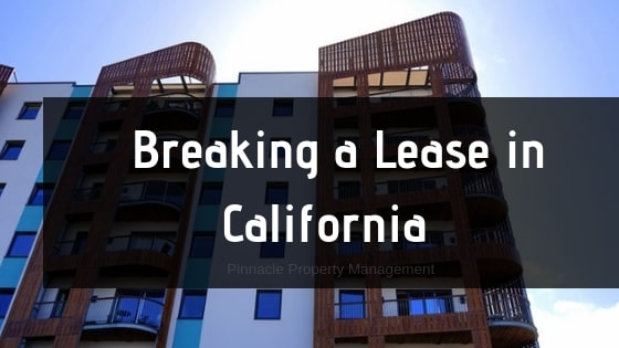 breaking a lease in california what you need to know. Black Bedroom Furniture Sets. Home Design Ideas